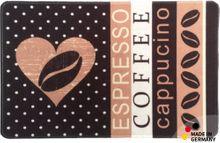 Küchenläufer Teppichläufer Coffee Kaffeemotiv 50x80 cm waschbar