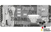 Teppichläufer Küchenläufer Italian schwarz weiß 50x80 cm waschbar