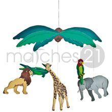 Tiere aus Afrika Mobile aus Holz Bausatz Bastelset f. Kinder ab 8 Jahren