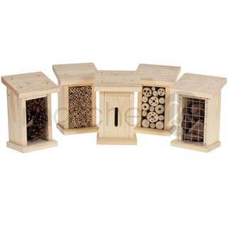 Insektenhotel Nützlingshotel 5er Set Holz Bausatz inkl. Füllmaterial