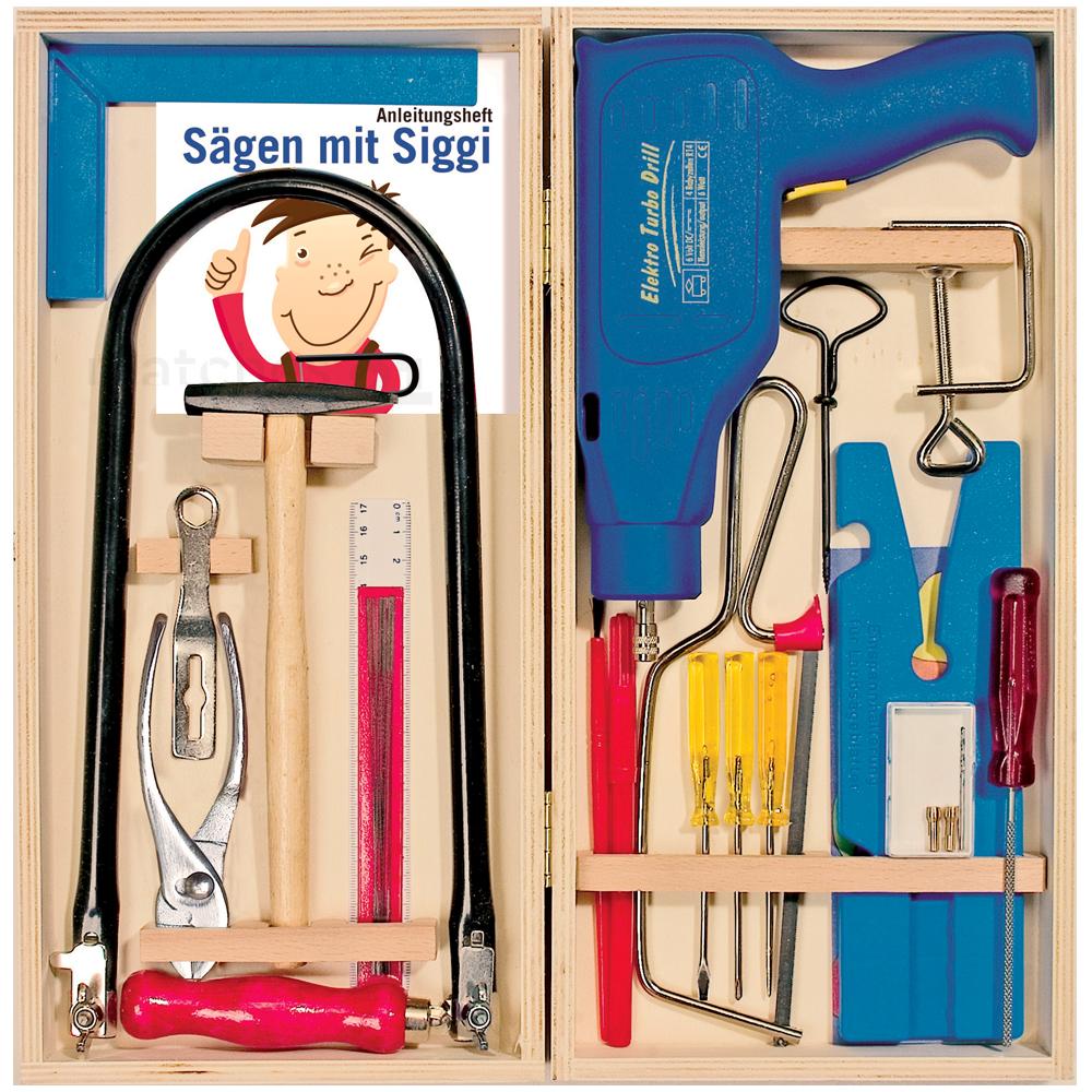 kinder werkzeugkasten werkzeug laubs ge set inkl elektr bohrmaschine kaufen matches21. Black Bedroom Furniture Sets. Home Design Ideas