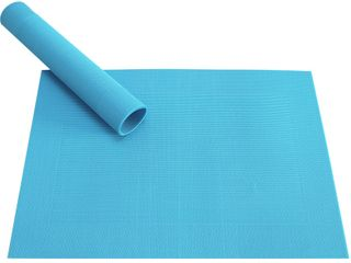 Tischset Platzset BORDA B-WARE hellblau türkis 1 Stk. Kunststoff gewebt abwaschbar