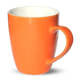 Tasse Becher Kaffeebecher orange 1 Stk 10cm 350ml Porzellan B-WARE