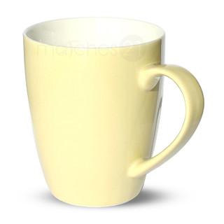 Tasse Becher Kaffeebecher cremefarben 1 Stk 10cm 350ml Porzellan B-WARE
