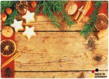 Fußmatte Fußabstreifer ESSENCE Weihnachten & Gewürze 50x70x0,5 cm waschbar