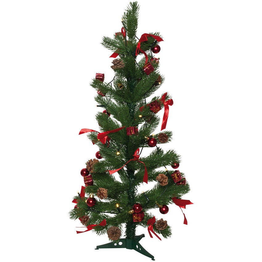 kleiner weihnachtsbaum christbaum rot geschm ckt 75 cm led beleuchtung kaufen matches21. Black Bedroom Furniture Sets. Home Design Ideas
