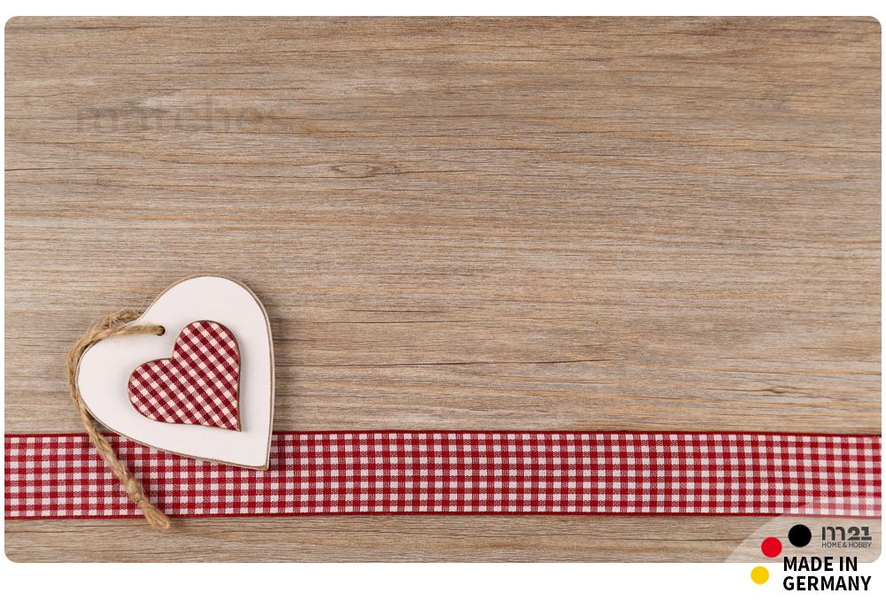k chenl ufer teppichl ufer landhaus herzen holz 50x80 cm waschbar kaufen matches21. Black Bedroom Furniture Sets. Home Design Ideas