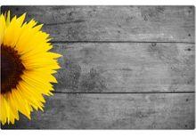 Tischset Platzset Sommer MOTIV Sonnenblume & Holz 1 Stk abwaschbar 43,5x28,5 cm