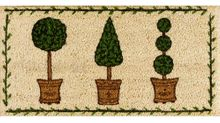 Fußmatte Kokosmatte Mini Kokos Buchsbäume 30x60x1,5 cm