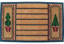 Fußmatte Kokosmatte Kokos Buchsbäume mit Gummirand 45x75 cm rutschfest