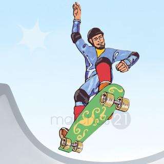 Skateboarder Laubsägevorlage Kinder Holz Laubsäge Vorlage Zum