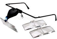 Profi Lupenbrille LED Beleuchtung Lupen Brille 3 Linsen max. 3,5x Vergrößerung