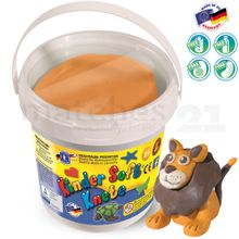 Feuchtmann Softknete KNETEIMER Kinder Soft Knete 500 gr. orange im Eimer