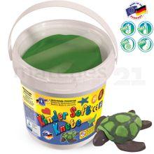 Feuchtmann Softknete KNETEIMER Kinder Soft Knete 500 gr. dunkel grün im Eimer
