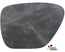 Leder Tischset Platzset NOBLE anthrazit Echtleder 1 Stk. organisch 45x33 cm