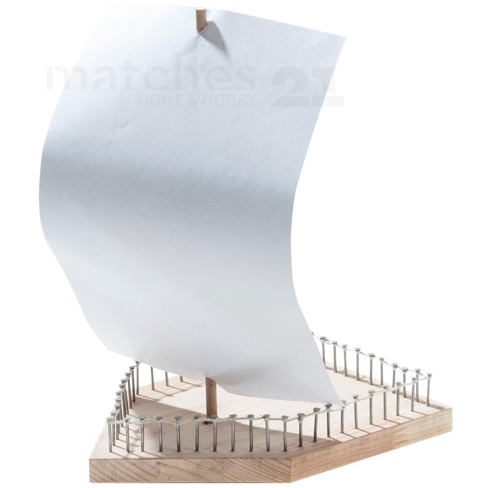 einfaches segelboot holz boot als kinder bausatz werkset bastelset