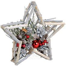 Holzpfahl mit kerzenflamme aus metall schleife holz deko 8x8x35 cm kaufen matches21 - Weihnachtsdeko mit tannenzapfen ...