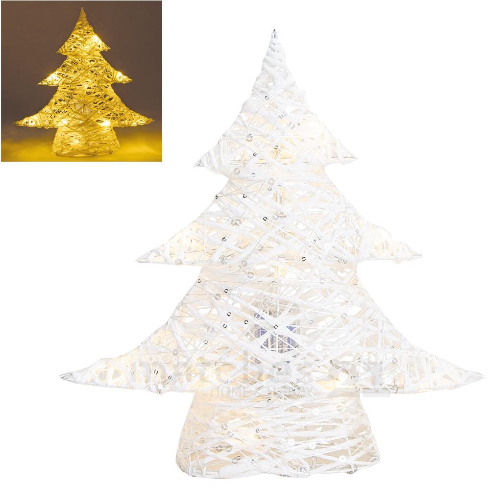 leuchtender tannenbaum rattan weihnachtsdeko wei mit led beleuchtung 31 cm kaufen matches21. Black Bedroom Furniture Sets. Home Design Ideas