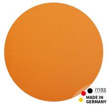 Leder Tischset Platzset NOBLE orange Echtleder 1 Stk. rund Ø 33 cm