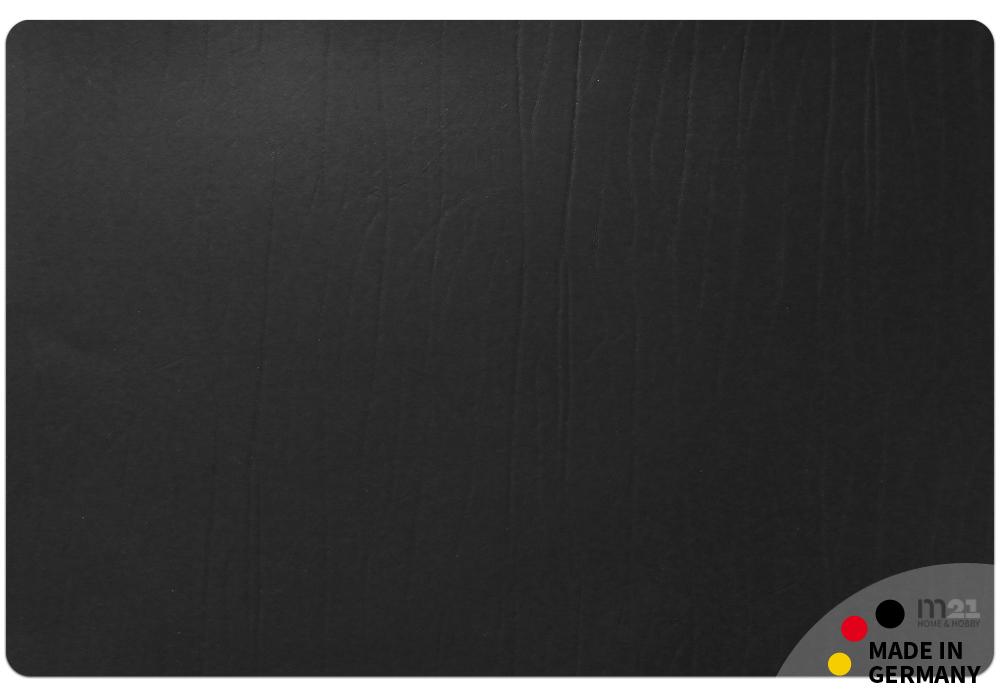edle leder schreibtischunterlage noble in schwarz 60x40 cm upcycling echtleder kaufen matches21. Black Bedroom Furniture Sets. Home Design Ideas