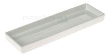 Pflanzschale Pflanzplatte Keramik rechteckig weiß 1 Stk. 40x12,5x3,5 cm