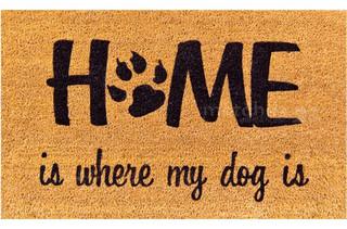 Fußmatte Kokosmatte Kokos HOME & DOG 45x75x1,5 cm rutschfest