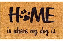 Fußmatte Fußabstreifer KOKOS HOME & DOG 45x75x1,5 cm rutschfest Kokosmatte