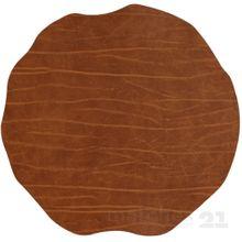 Tischset Platzset MOTIV Lederoptik Cognac braun 1 Stk. abwaschbar Ø 38 cm
