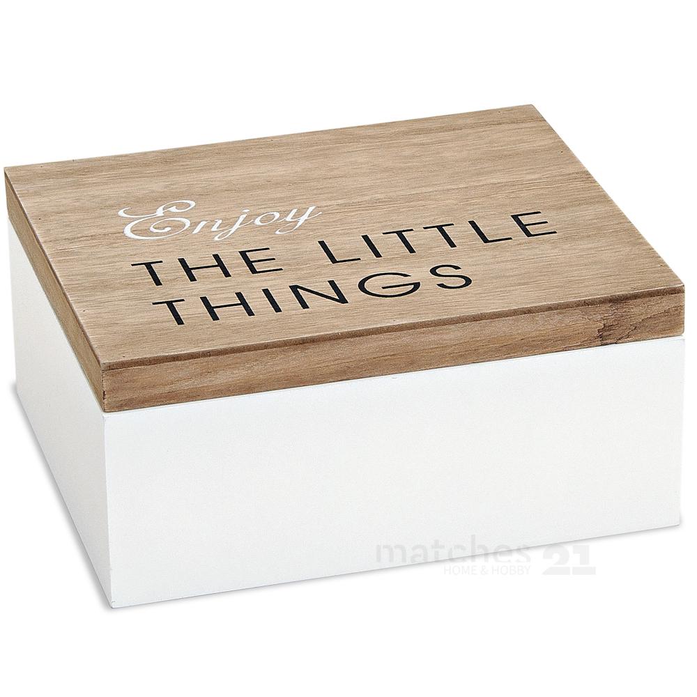 holzbox holzkiste aufbewahrungsbox wei natur mit deckel 22x18x10 cm kaufen matches21. Black Bedroom Furniture Sets. Home Design Ideas