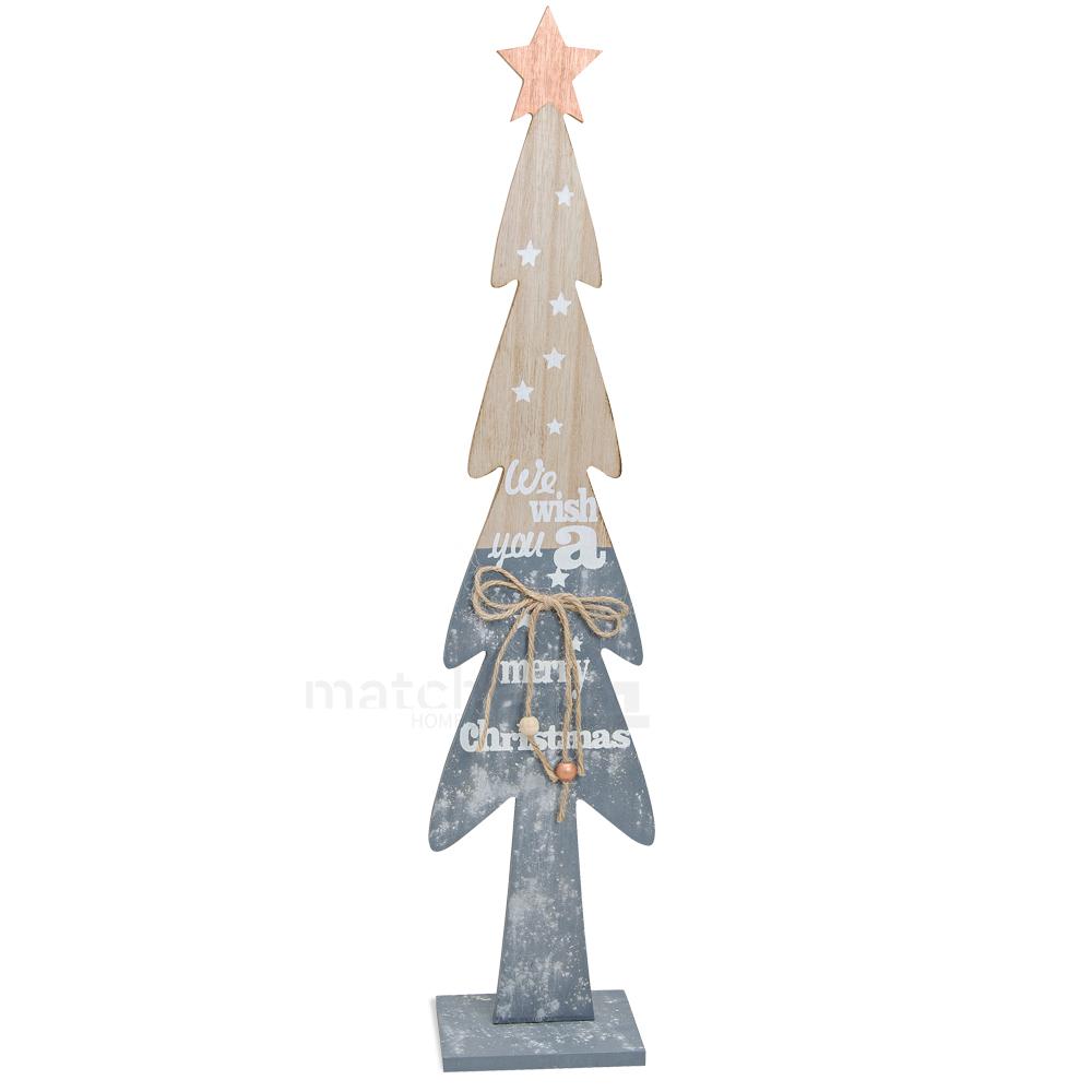 Tannenbaum Holz Wish you Merry Christmas Weihnachtsdekoration 1 Stk ...