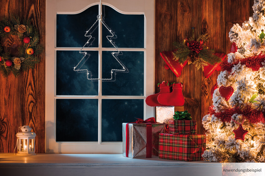 led fensterbild tannenbaum weihnachten fensterdeko beleuchtet 20x16 cm kaufen matches21. Black Bedroom Furniture Sets. Home Design Ideas