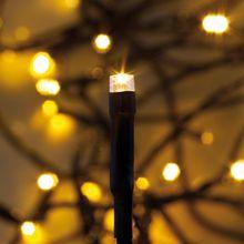 Außenbereich LED Mini Lichterkette 40-flammig super warmweiß / schwarz