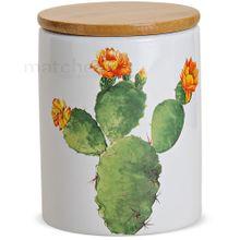 Porzellan Vorratsdose Kaktus Mexico Holzdeckel & Gummidichtung ca. 650 ml