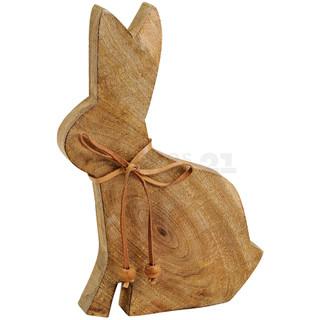 Hase / Osterhase Holz Figur 1 Stk braun Osterdeko / Frühlingsdeko 25 cm