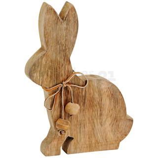 Hase / Osterhase Holz Figur 1 Stk braun Osterdeko / Frühlingsdeko 21 cm