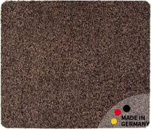 Fußmatte Teppich Läufer Baumwolle Uni / einfarbig braun 50x60 cm waschbar