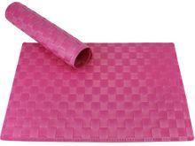 Tischset Platzset MODERN pink geflochten Kunststoff 1 Stk. 45x30 cm