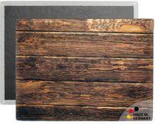 Tischset Platzset COMFORTWASH dunkles Holz Bretter braun 1 Stk. waschbar 40x30 cm