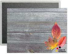 Tischset Platzset COMFORTWASH Blätter auf Holz Herbst 1 Stk waschbar 40x30 cm