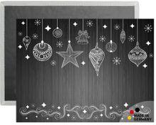 Platzsets Tischsets COMFORTWASH Weihnachten weiß / schwarz 4er Set waschbar 40x30 cm