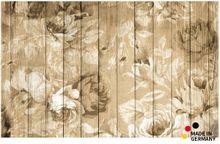 Fußmatte Fußabstreifer FLAT Holzbretter & Rosen 50x80 cm Textil waschbar