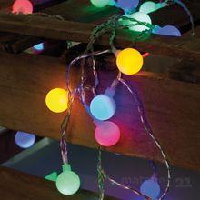 LED Lichterkette Außenbereich 50-flammig bunt / Trafo / 220V / 7,35 m