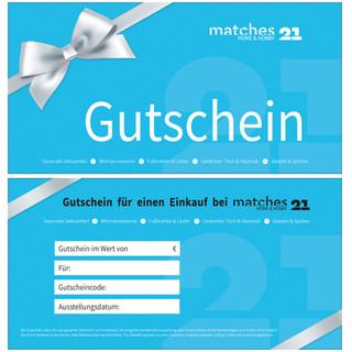 Geschenkgutschein matches21 - Design - Betrag auswählbar - kostenloser Versand