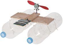 Katamaran Boot Solarantrieb PET-Flaschen Bausatz Kinder Werkset Bastelset ab 12 J