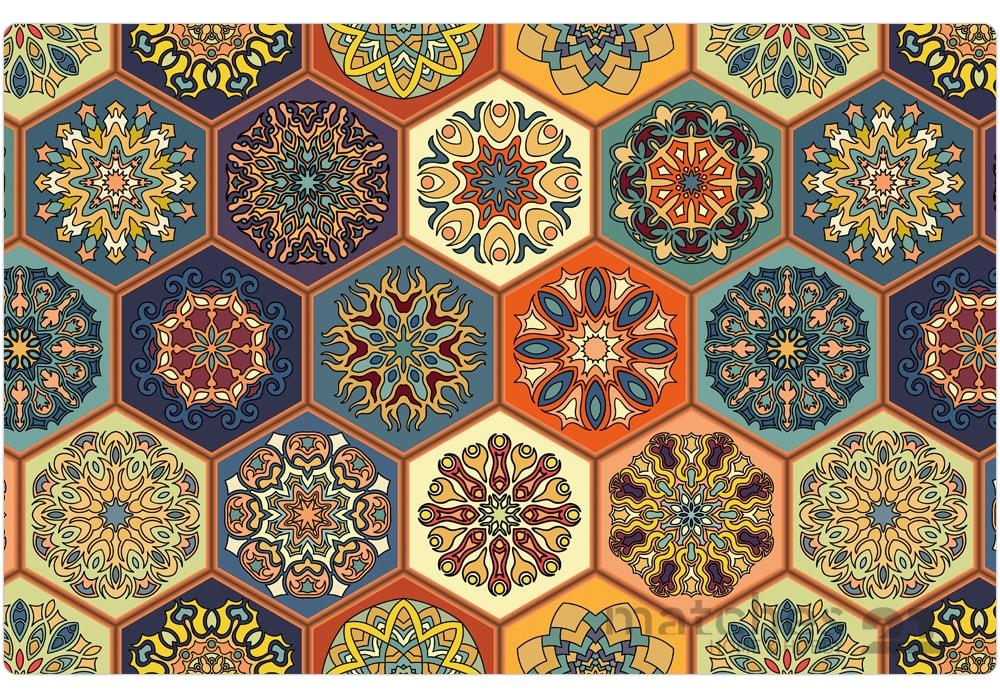 Tischsets platzsets orientalisch motiv bunte mosaik - Fliesen orientalisch ...