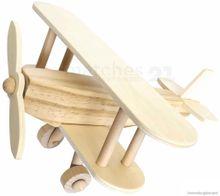 Flugzeug Doppeldecker vorgefertigter Holzbausatz Holz Bausatz Kinder ab 7 Jahre