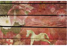 Tischset Platzset MOTIV Vintage Weihnachten Deko & Holz 1 Stk. abwaschbar