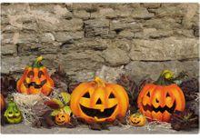 Tischset Platzset MOTIV Halloween #2 Kürbislaternen Herbstdeko & Stein 1 Stk.