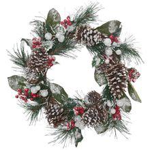 Türkranz Deko Kranz zum Hängen weihnachtlich dekoriert unbeleuchtet Ø 60 cm