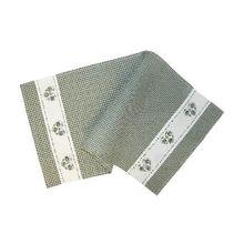 Tischläufer Mitteldecke Tischwäsche Landhaus grün weiß kariert & Herz 35x70 cm